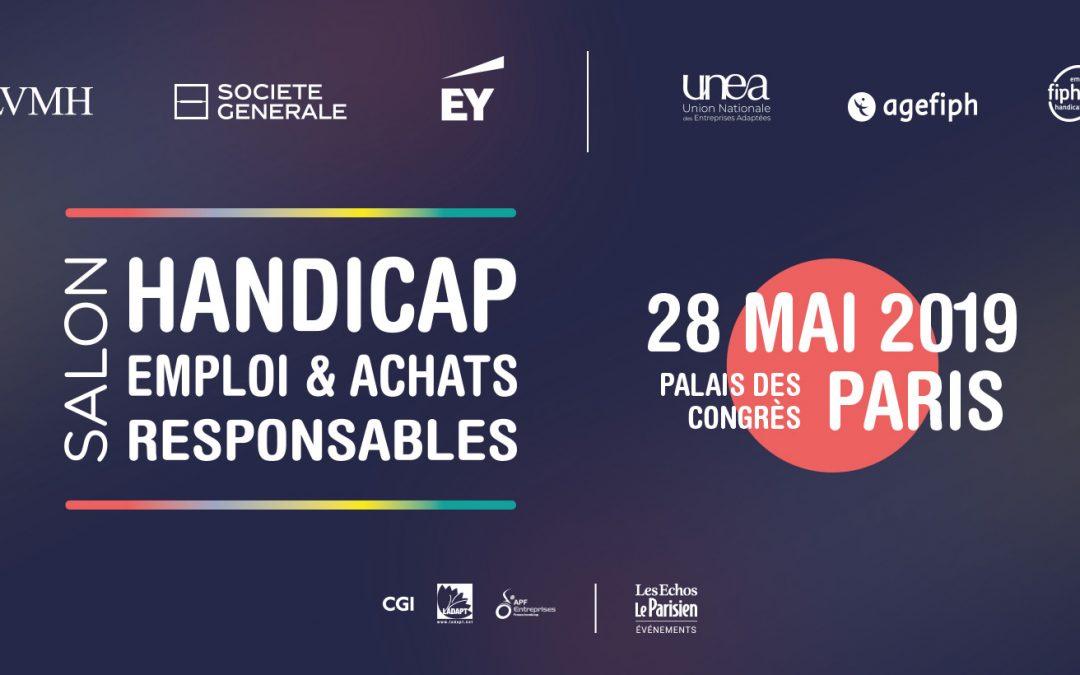 Rencontrez-nous au Salon du Handicap à Paris le 28 mai 2019